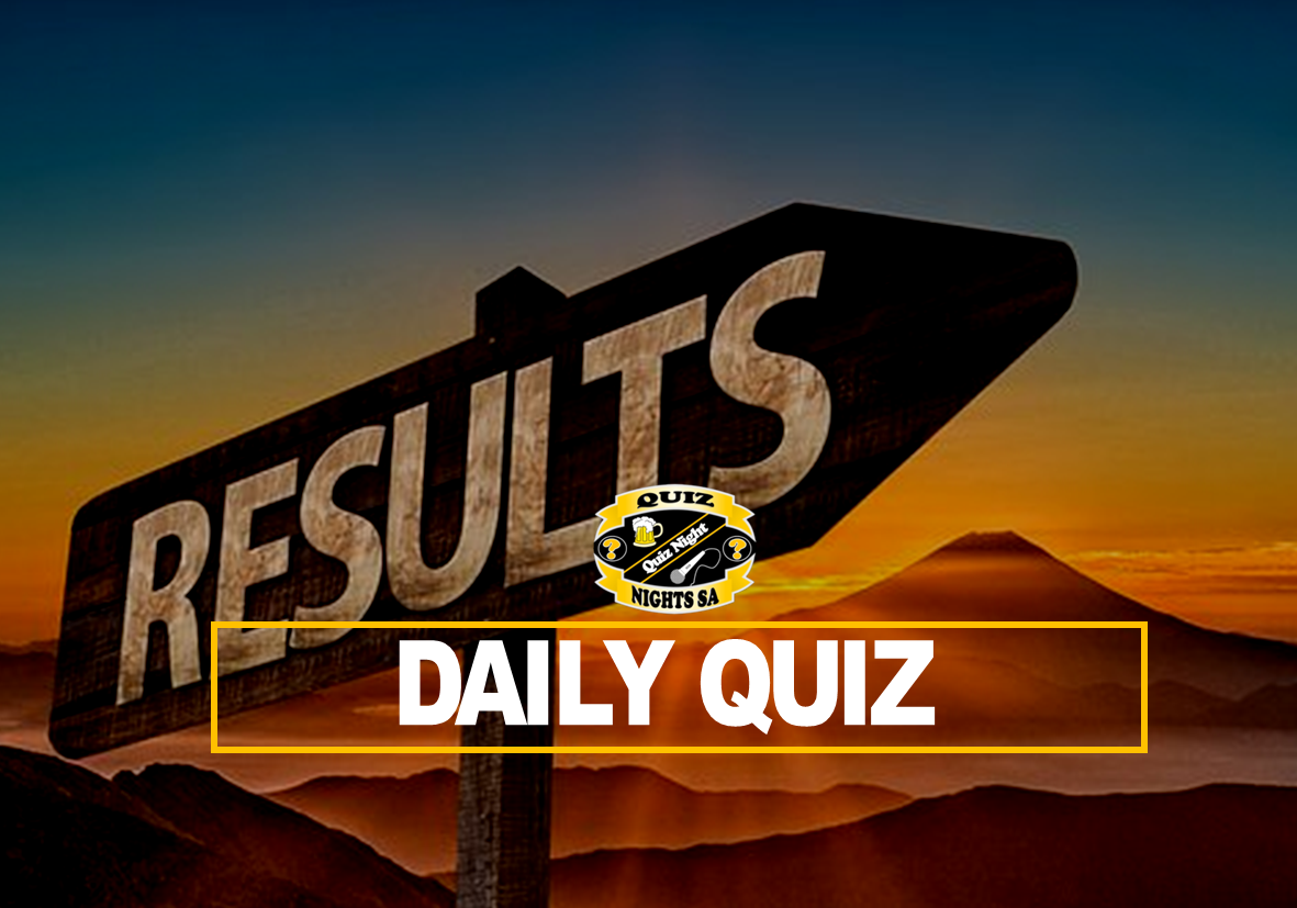Daily Quiz Results 20 Jan 2021