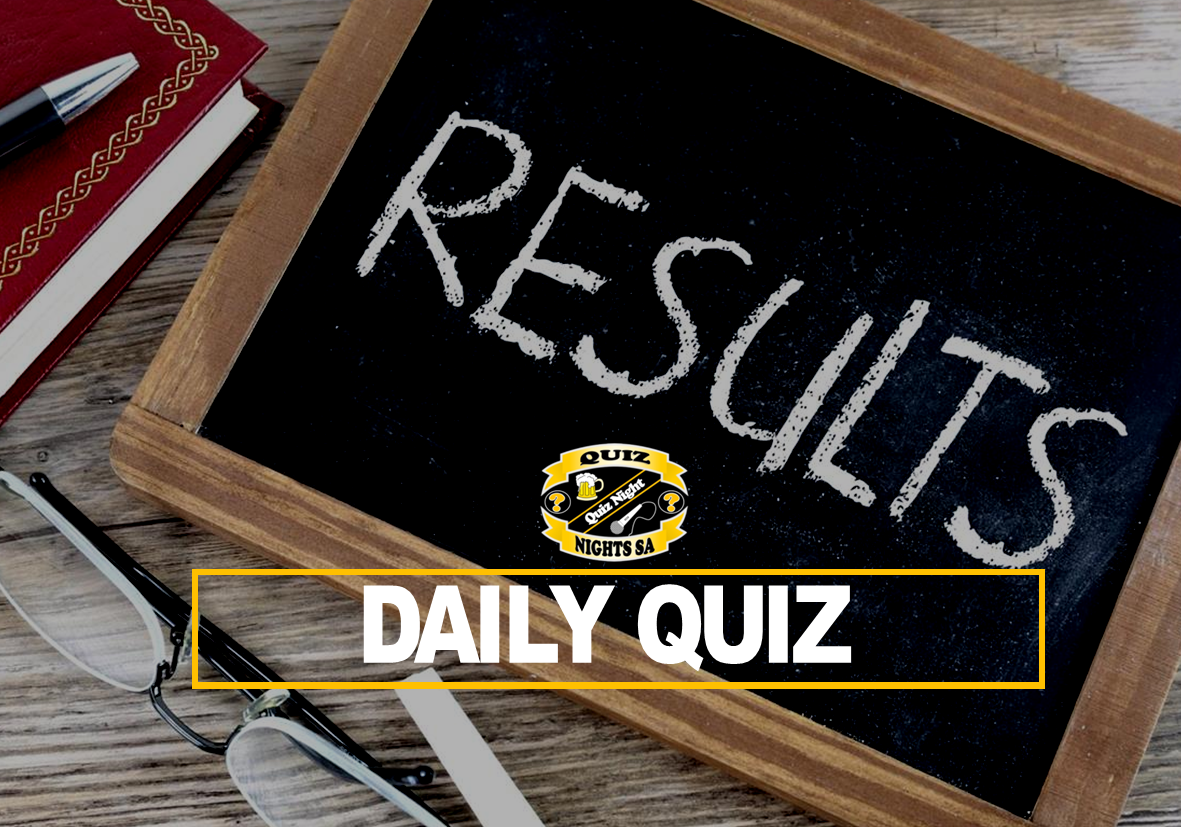 Daily Quiz Results - Fri 22 Jan