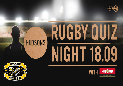 Hudsons Rugby Quiz