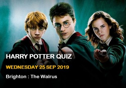 Harry Potter Quiz - Brighton 25 September